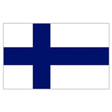 Finland Flag Poster