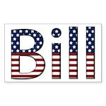 Bill Stars and Stripes Rectangle Sticker