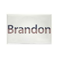 Brandon Stars and Stripes Rectangle Magnet