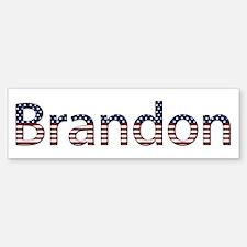 Brandon Stars and Stripes Bumper Bumper Bumper Sticker