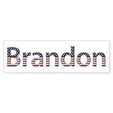 Brandon Stars and Stripes Bumper Bumper Sticker