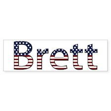 Brett Stars and Stripes Bumper Bumper Sticker