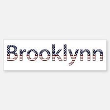 Brooklynn Stars and Stripes Bumper Car Car Sticker
