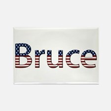 Bruce Stars and Stripes Rectangle Magnet