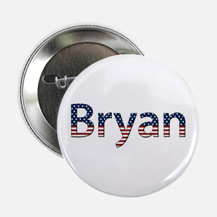 Bryan Stars and Stripes Button