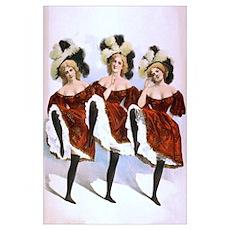 3 Dancing Girls Poster