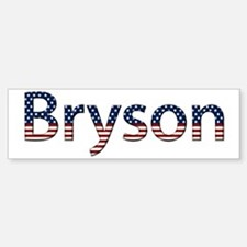 Bryson Stars and Stripes Bumper Bumper Bumper Sticker