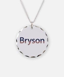 Bryson Stars and Stripes Necklace Circle Charm