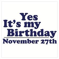 November 27th Birthday Poster