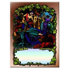 Victorian Border Art on; Poster