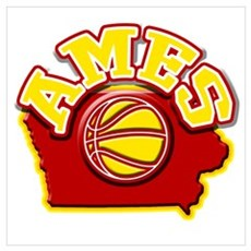 Ames Basketball Canvas Art