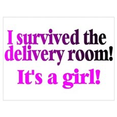 I Survived The Delivery Room (It's A Girl!) Mini P Poster