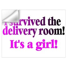 I Survived The Delivery Room (It's A Girl!) Mini P Wall Decal