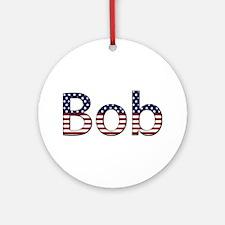 Bob Stars and Stripes Round Ornament