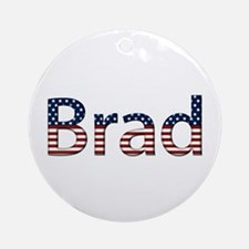 Brad Stars and Stripes Round Ornament