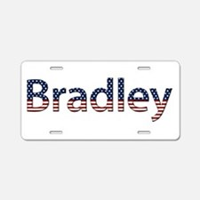 Bradley Stars and Stripes Aluminum License Plate