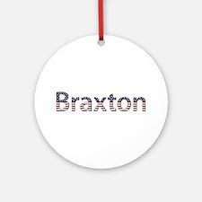 Braxton Stars and Stripes Round Ornament