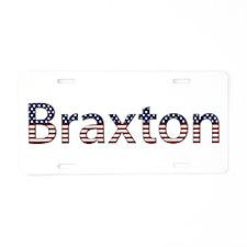Braxton Stars and Stripes Aluminum License Plate