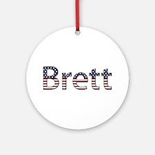 Brett Stars and Stripes Round Ornament
