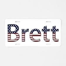 Brett Stars and Stripes Aluminum License Plate
