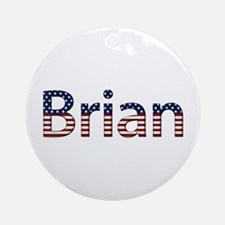 Brian Stars and Stripes Round Ornament