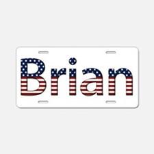 Brian Stars and Stripes Aluminum License Plate