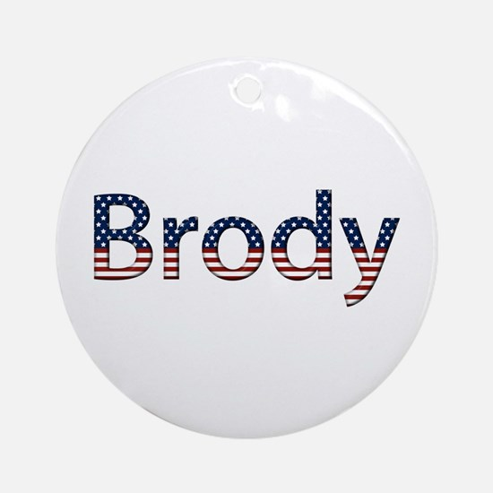 Brody Stars and Stripes Round Ornament
