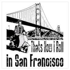Vespa Scooter San Francisco Poster