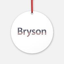 Bryson Stars and Stripes Round Ornament