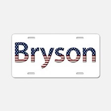 Bryson Stars and Stripes Aluminum License Plate