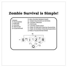 """Zombie Mathematical Model"" Canvas Art"
