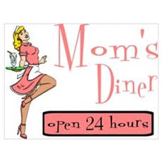 Blonde Mom's Diner Canvas Art
