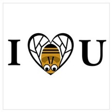 I Love You (Bee) Canvas Art