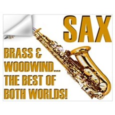 Sax - The Best of Both Worlds Wall Decal
