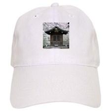 Cherry Blossoms and Shrine in Baseball Cap