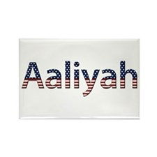 Aaliyah Stars and Stripes Rectangle Magnet