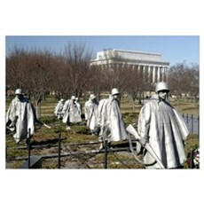 Korean War Memorial Canvas Art