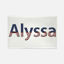 Alyssa Stars and Stripes Rectangle Magnet