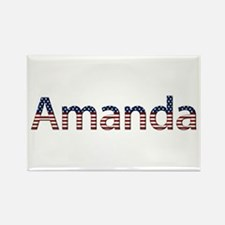 Amanda Stars and Stripes Rectangle Magnet