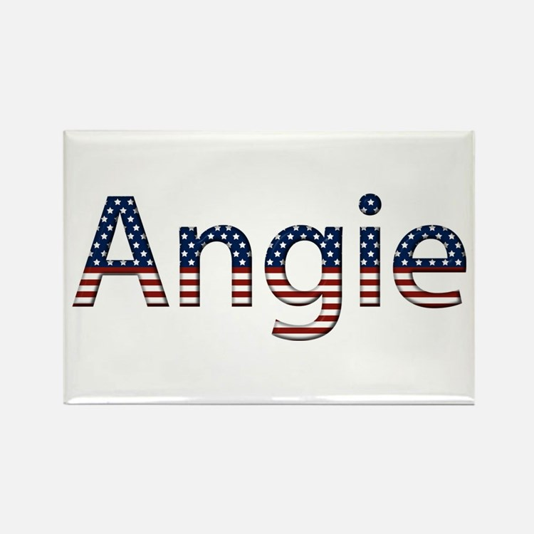 Angie Stars and Stripes Rectangle Magnet