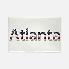 Atlanta Stars and Stripes Rectangle Magnet