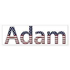 Adam Stars and Stripes Bumper Bumper Bumper Sticker