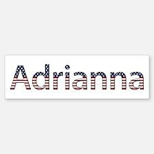 Adrianna Stars and Stripes Bumper Bumper Bumper Sticker