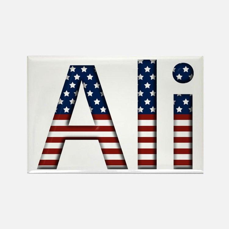 Ali Stars and Stripes Rectangle Magnet