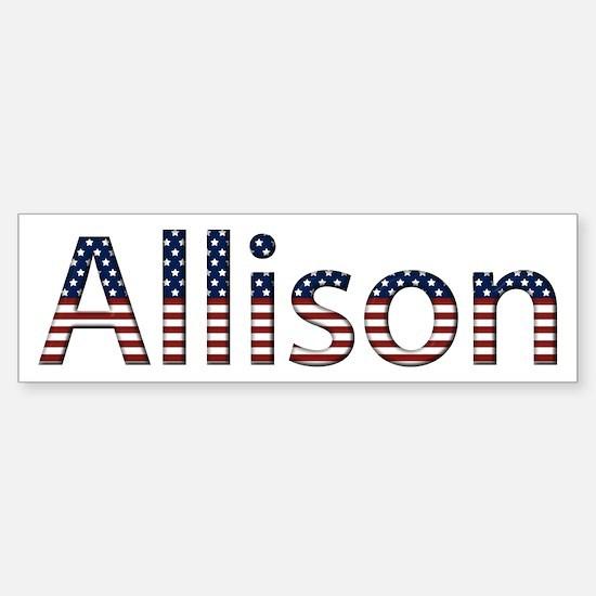 Allison Stars and Stripes Bumper Bumper Bumper Sticker