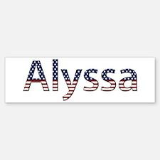 Alyssa Stars and Stripes Bumper Bumper Bumper Sticker