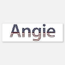 Angie Stars and Stripes Bumper Bumper Bumper Sticker