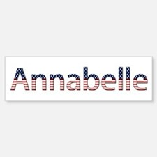 Annabelle Stars and Stripes Bumper Bumper Bumper Sticker