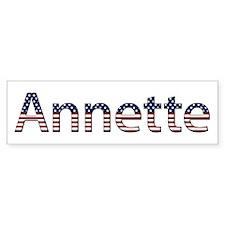 Annette Stars and Stripes Bumper Bumper Sticker