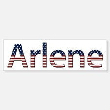 Arlene Stars and Stripes Bumper Bumper Bumper Sticker